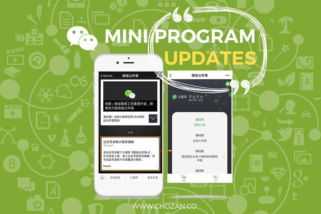 WeChat Adds New Functions to Mini Programs - ChoZan